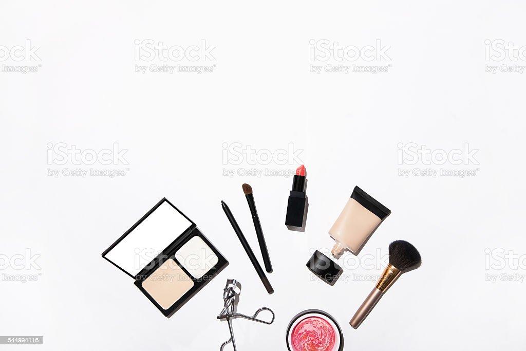 close up of makeup stuff stock photo