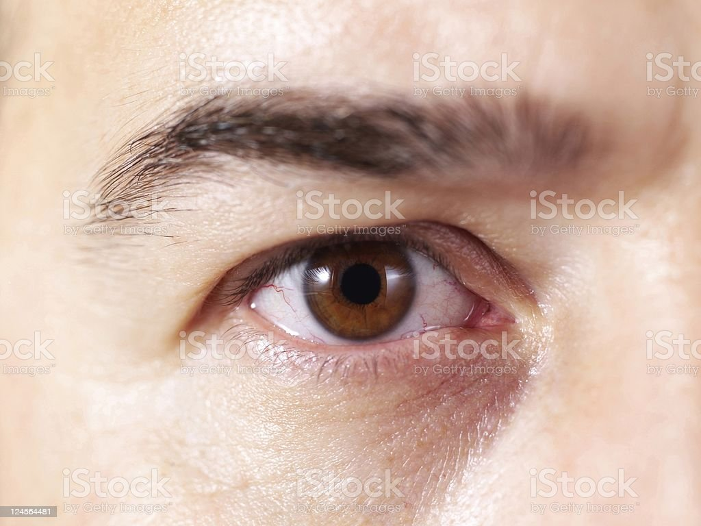 Close up of male eye royalty-free stock photo