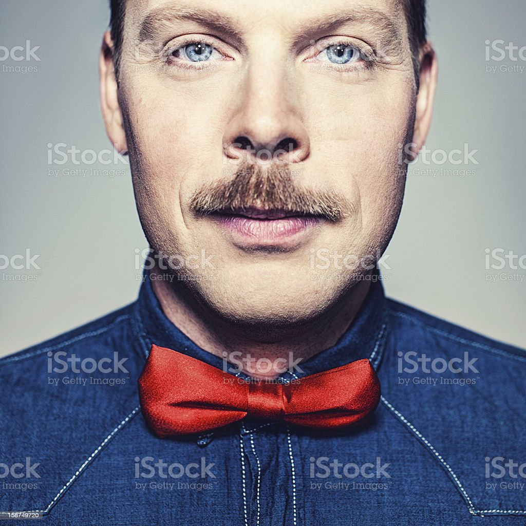 Close up of man in bow tie stock photo
