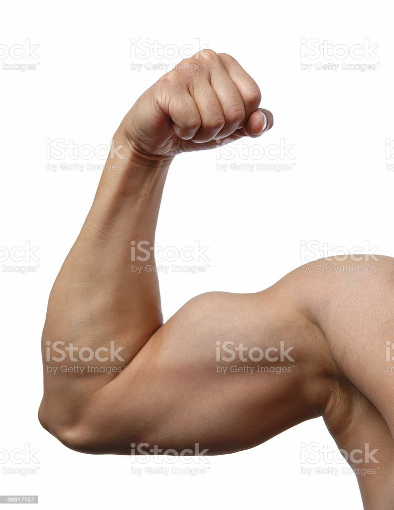 Close up of man's arm stock photo