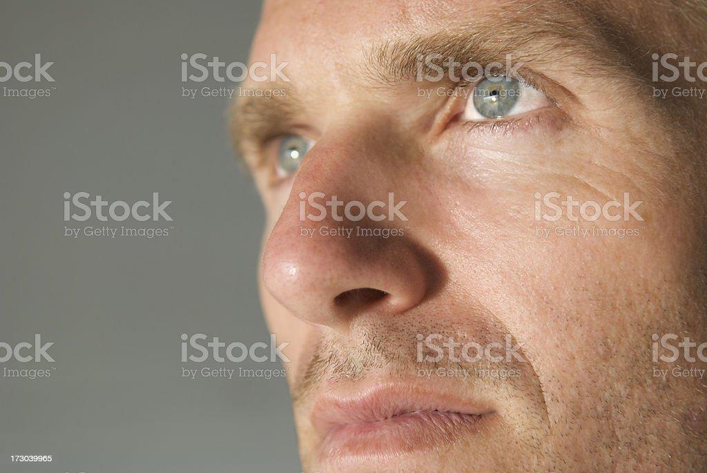 Close Up of Man's Eye stock photo