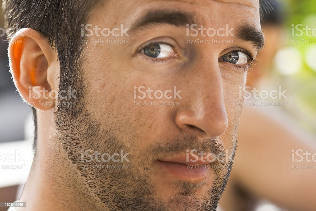 Close up of man's face royalty-free stock photo