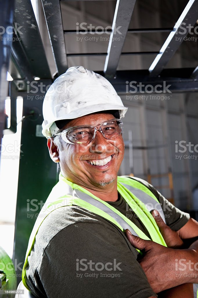 Close up of manual worker royalty-free stock photo