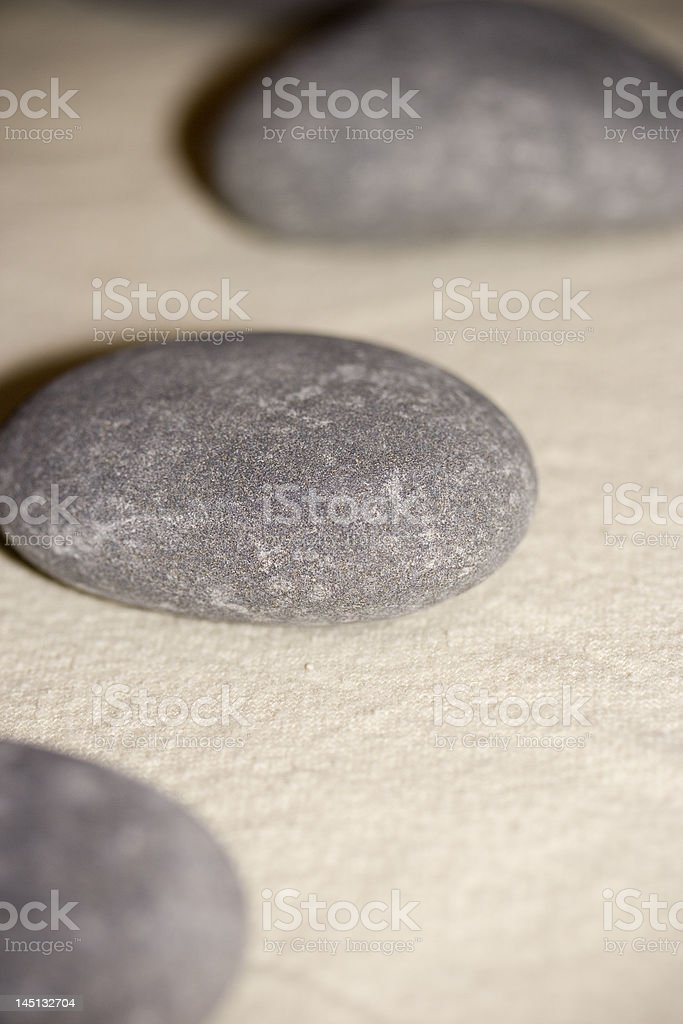 Close up of massage rocks royalty-free stock photo