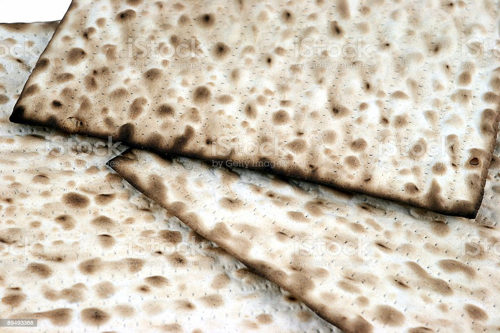 Close up of Matzo royalty-free stock photo