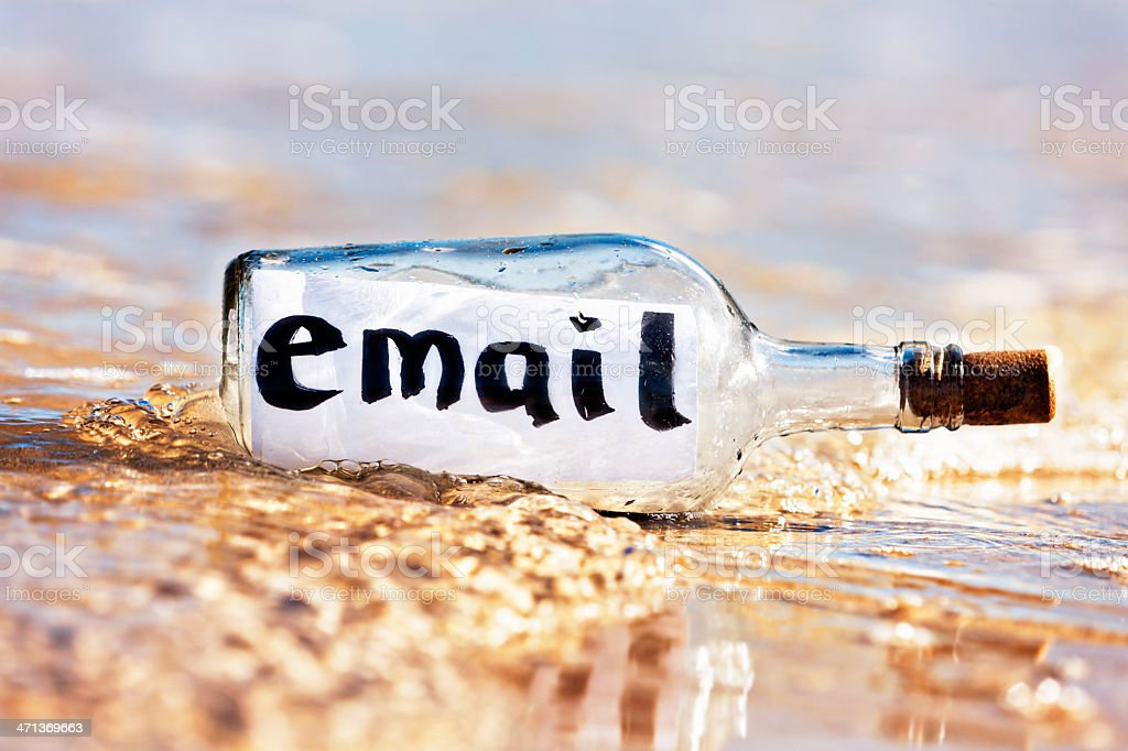 Close up of message in bottle saying