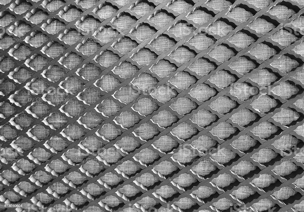 Close Up of Metal Grid Texture Background stock photo