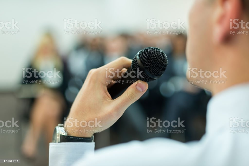 Close up of microphone royalty-free stock photo