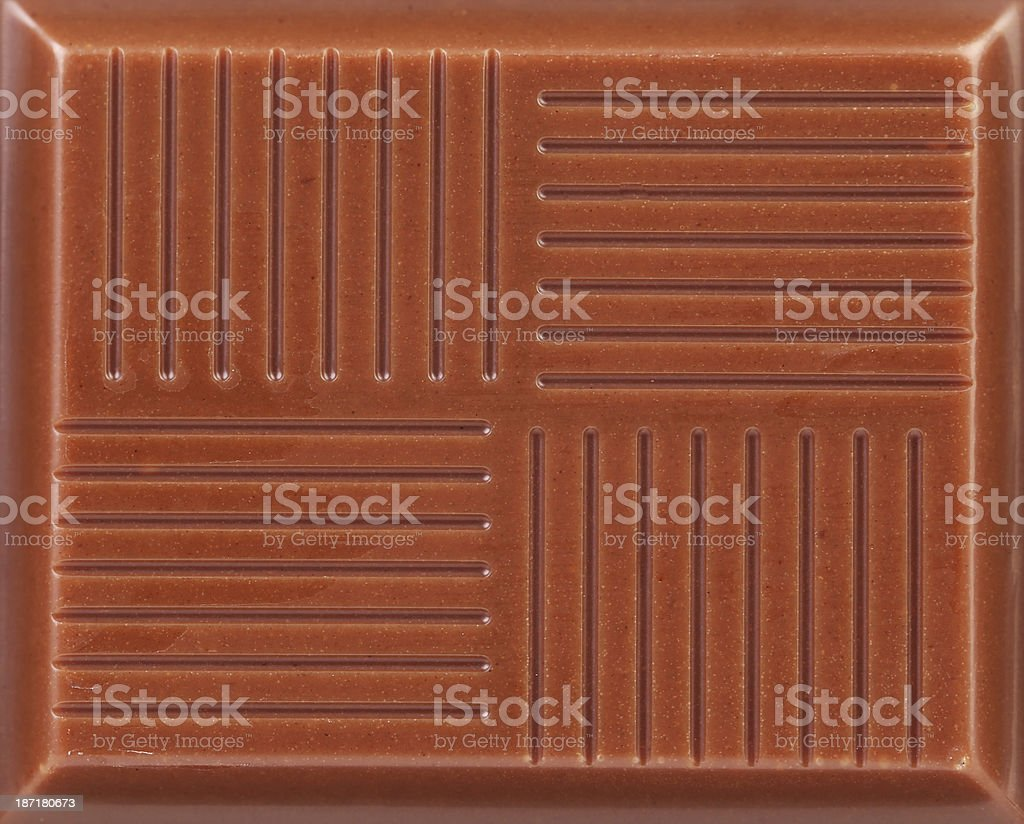 Close up of milk chocolate bar. royalty-free stock photo