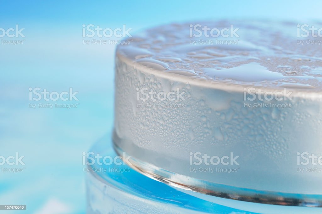 Close Up of Moisturiser Jar Covered in Condensation royalty-free stock photo