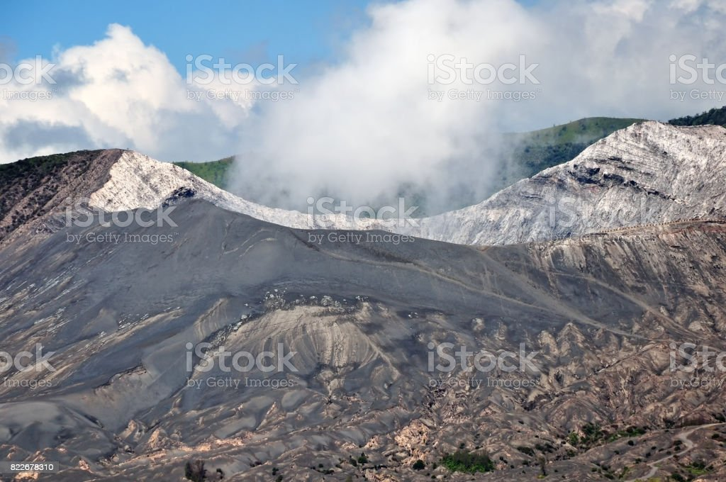 Close up of Mt Bromo Crater stock photo