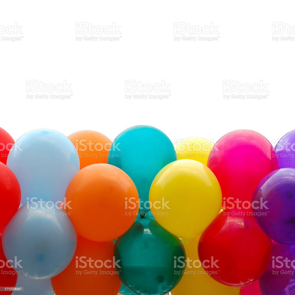 Close up of Multicolored party balloons royalty-free stock photo