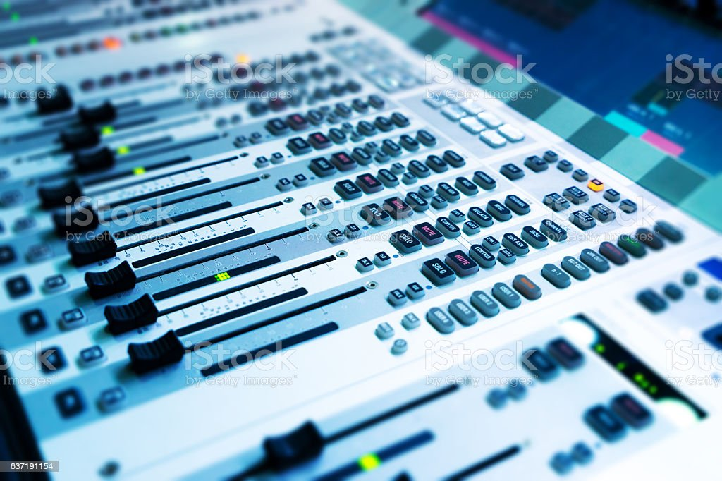 close up of music console stock photo