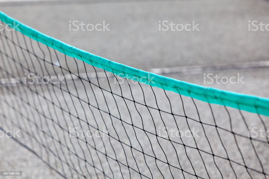 close up of net on playgrounds stock photo