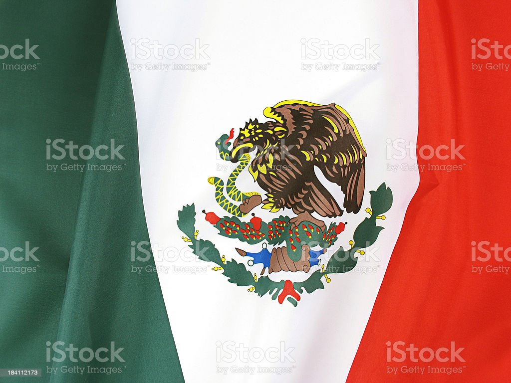 Close Up of New and Unused Flag of Mexico royalty-free stock photo