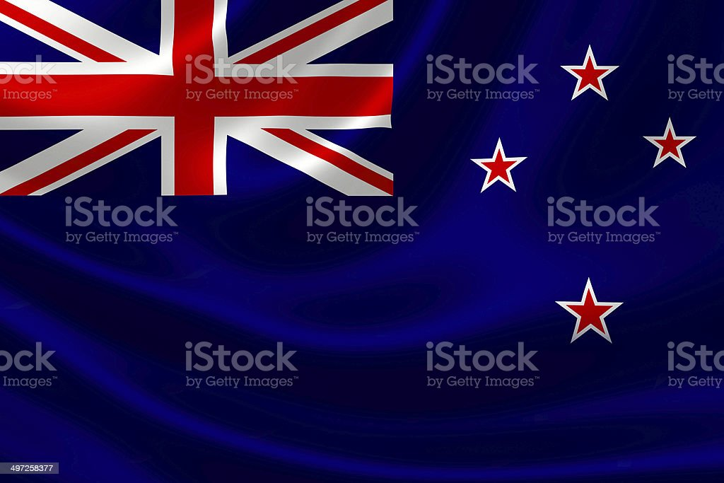Close Up of New Zealand's Flag royalty-free stock photo