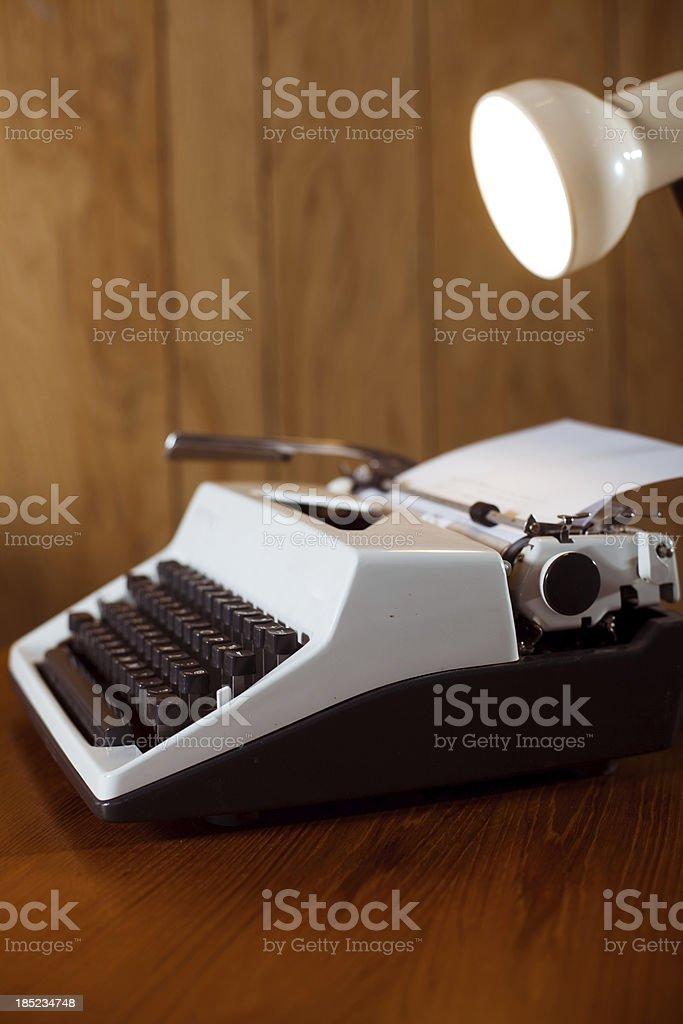 Close Up of Office Typewriter stock photo