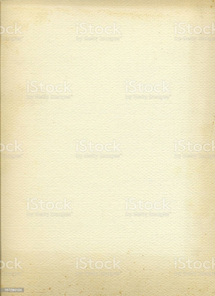 Close up of old blank cream colored paper royalty-free stock photo