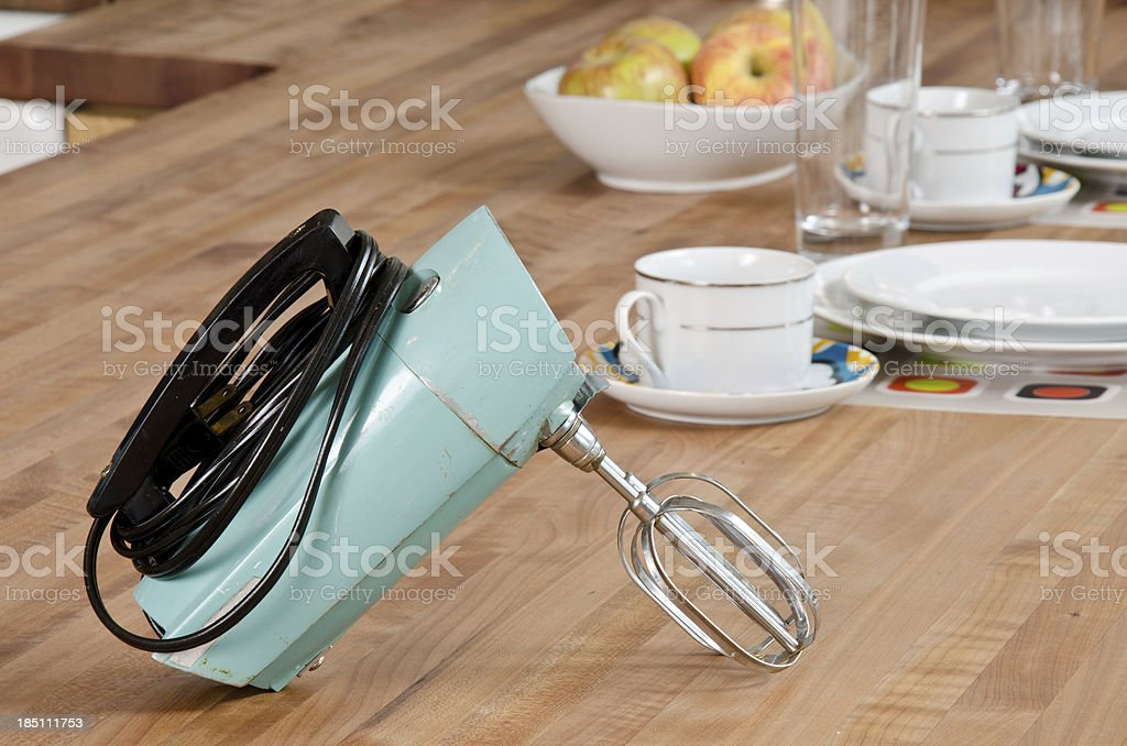 Close up of old fashion mixer stock photo