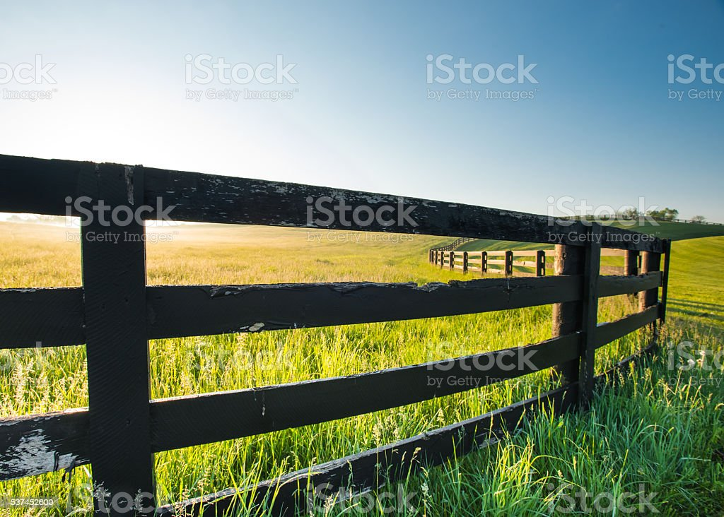 Close Up of Old Horse Fence stock photo