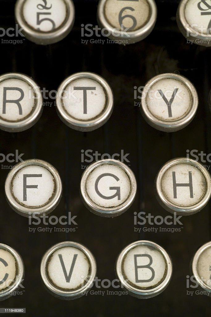 Close up of old typewriter royalty-free stock photo