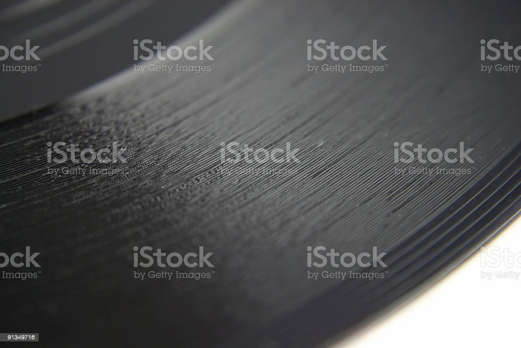 Close up of Old Vinyl Record shallow DOF royalty-free stock photo