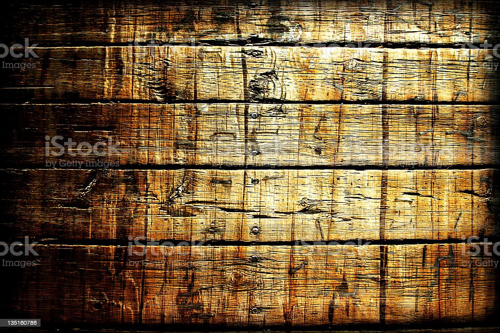 A close up of old wooden planks royalty-free stock photo