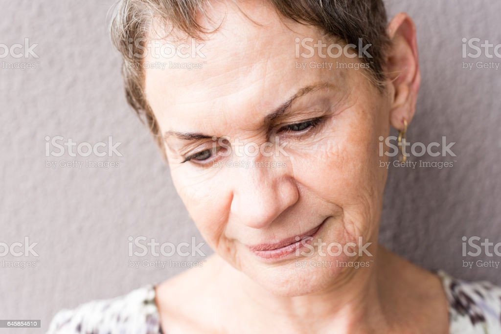 Close up of older woman stock photo