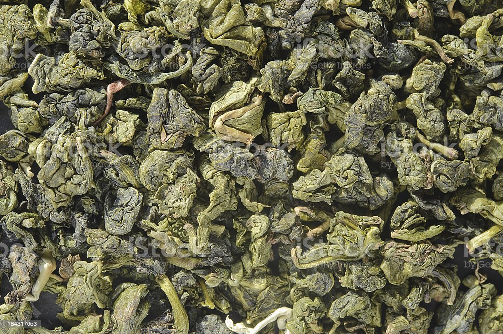 Close up of Oolong Tea. royalty-free stock photo