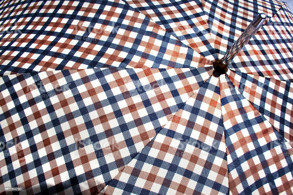 Close Up Of Open Retro Patterned Umbrella 4 royalty-free stock photo
