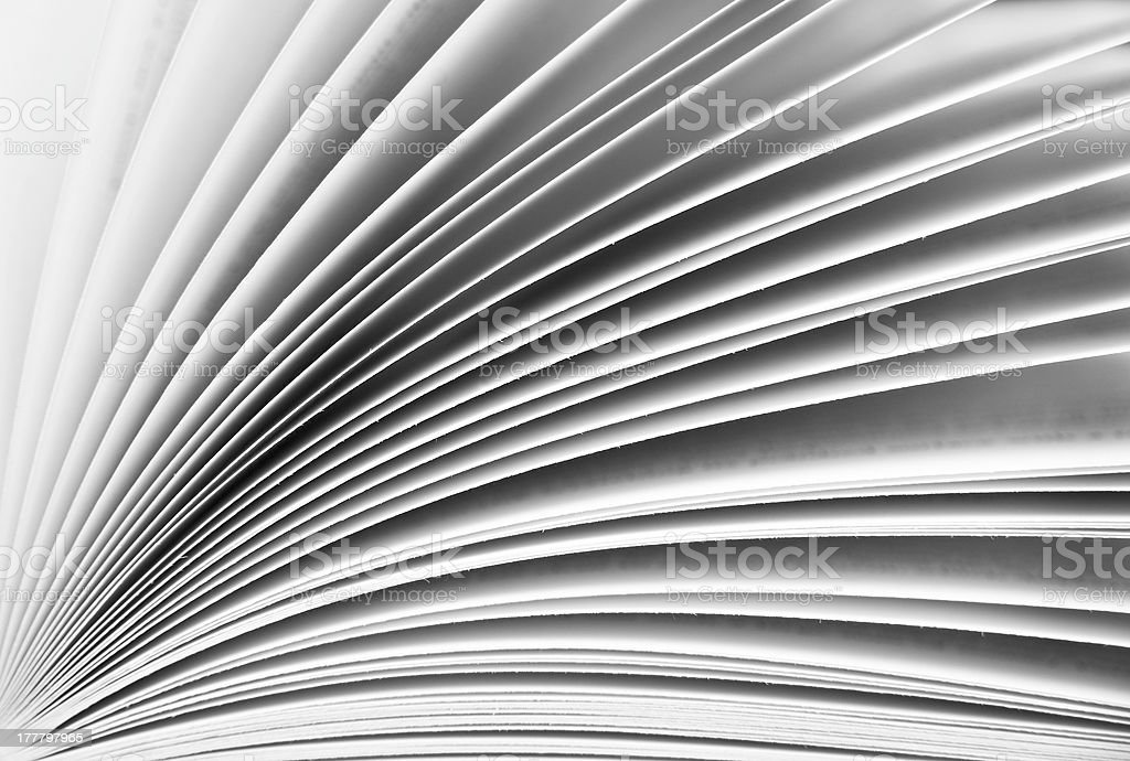 Close up of pages in a book for background pattern stock photo