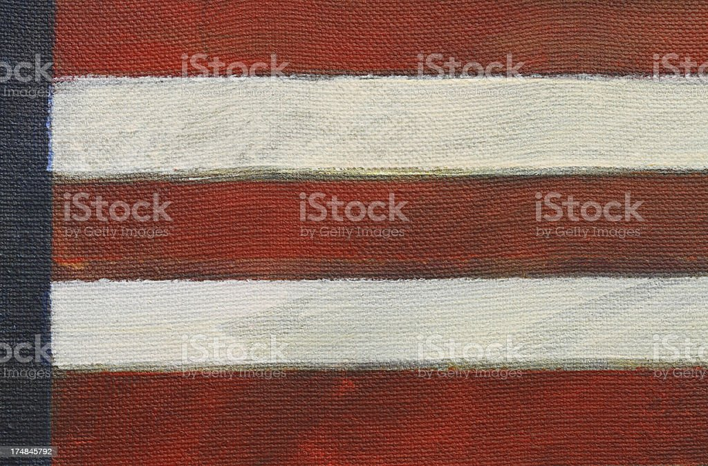 Close up of painted American flag stock photo