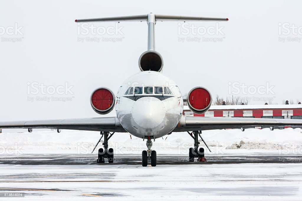 Close up of passenger airliner royalty-free stock photo