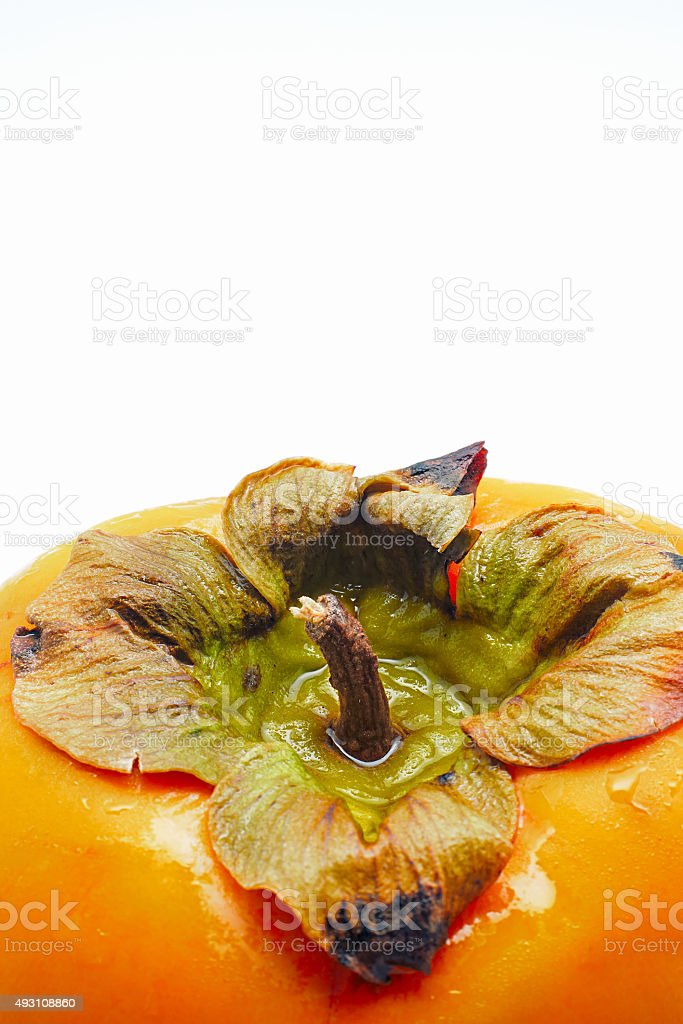 Close-up de persimmon isolado no fundo branco foto royalty-free