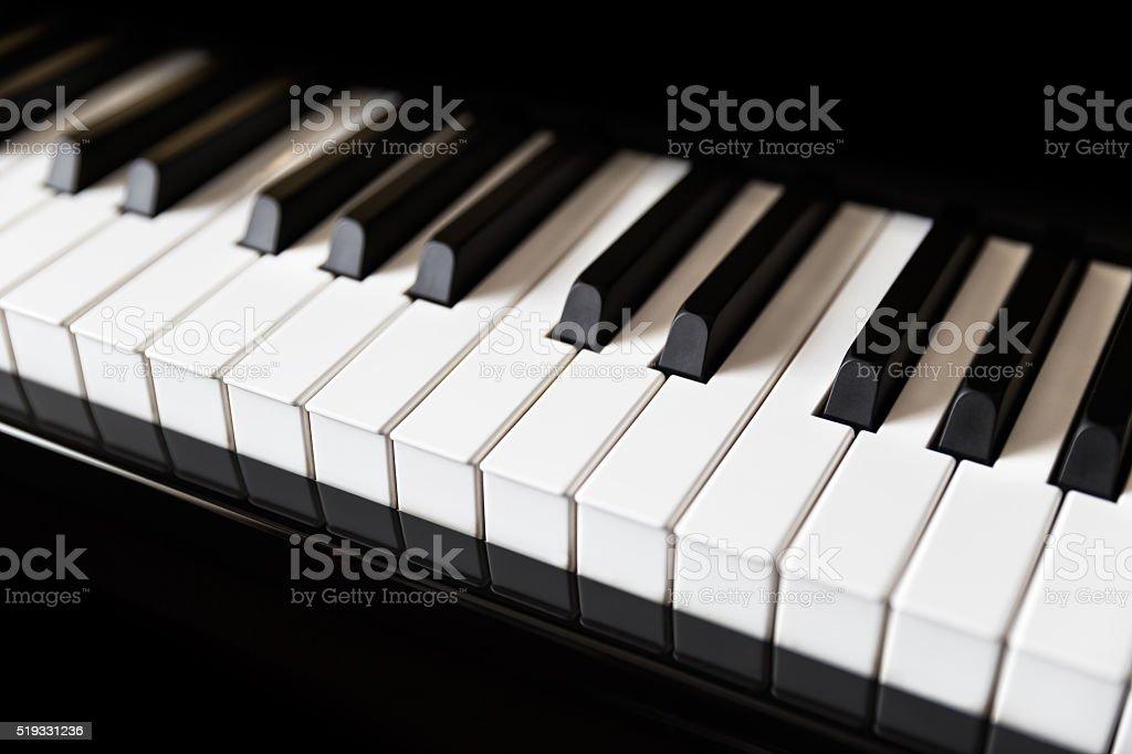 Close up of piano keyboard stock photo