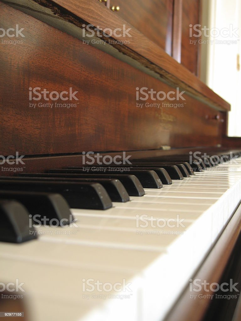 close up of piano royalty-free stock photo