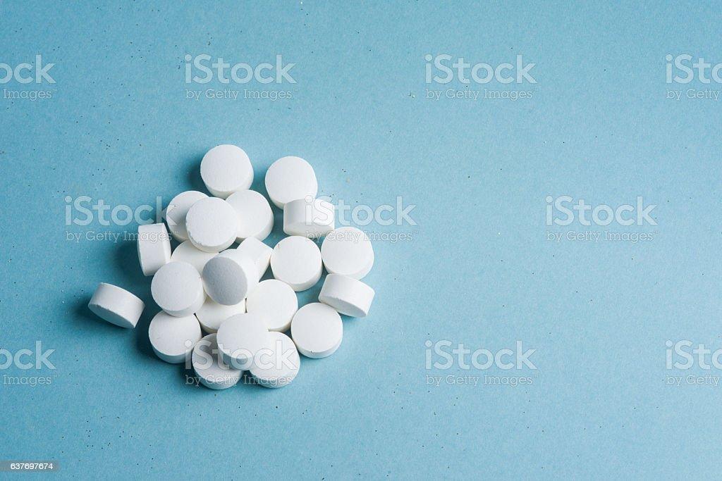 close up of pills stock photo