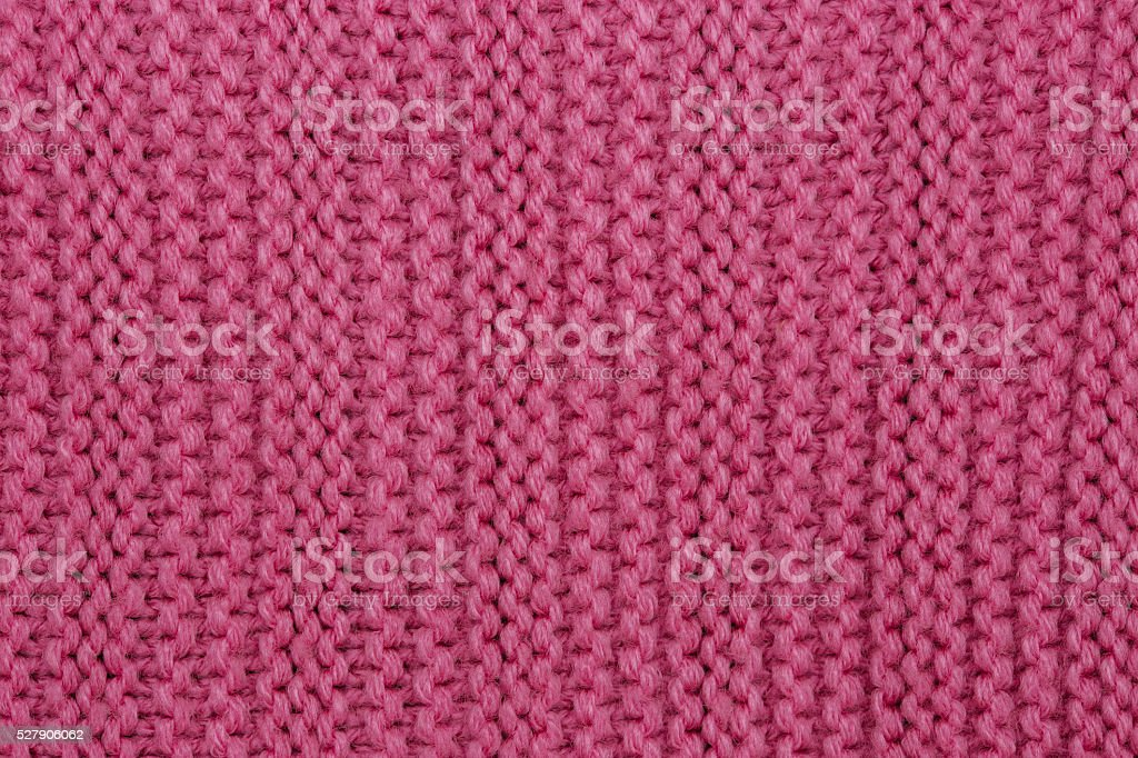 Close up of Pink Knitted background stock photo