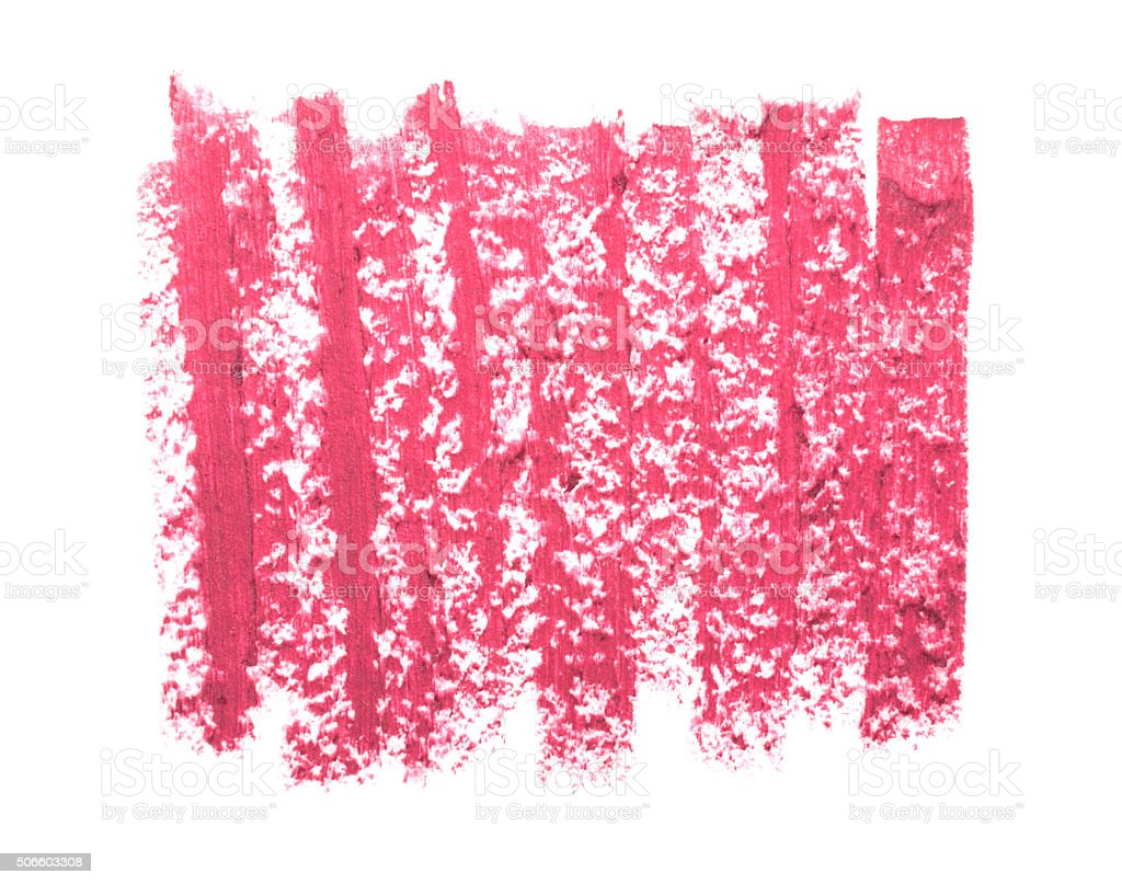close up of pink lipstick texture isolated stock photo