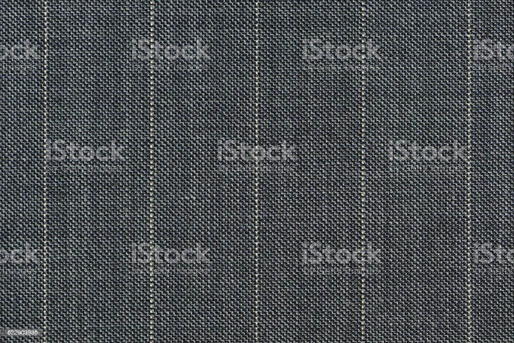 Close up of pinstriped fabric texture background stock photo