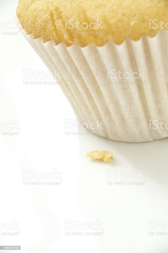 close up of plain cup cake royalty-free stock photo