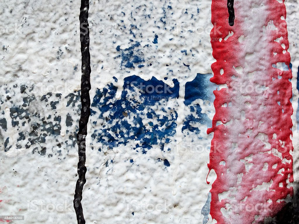 Close up of plastered painted old wall 7 stock photo