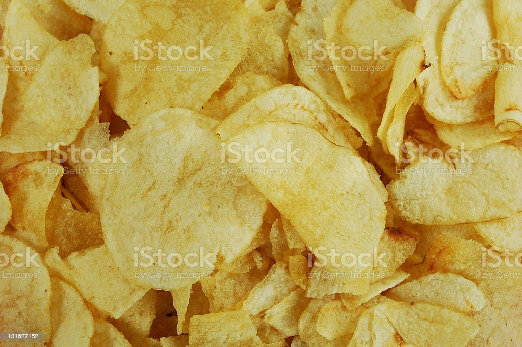 Close Up of Potato Chips royalty-free stock photo