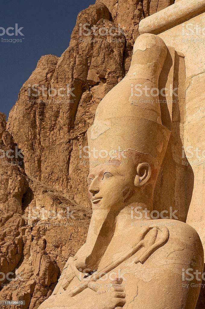 Close up of Queen Hatshepsut stock photo