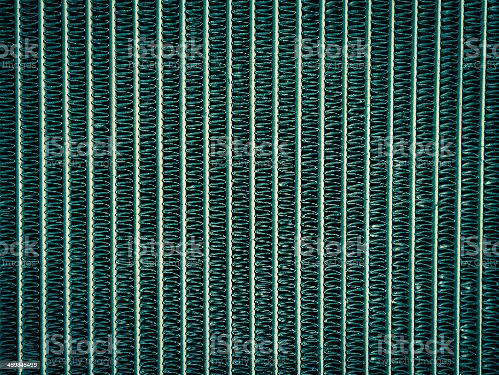 Close up of radiator in cross process style, background. royalty-free stock photo