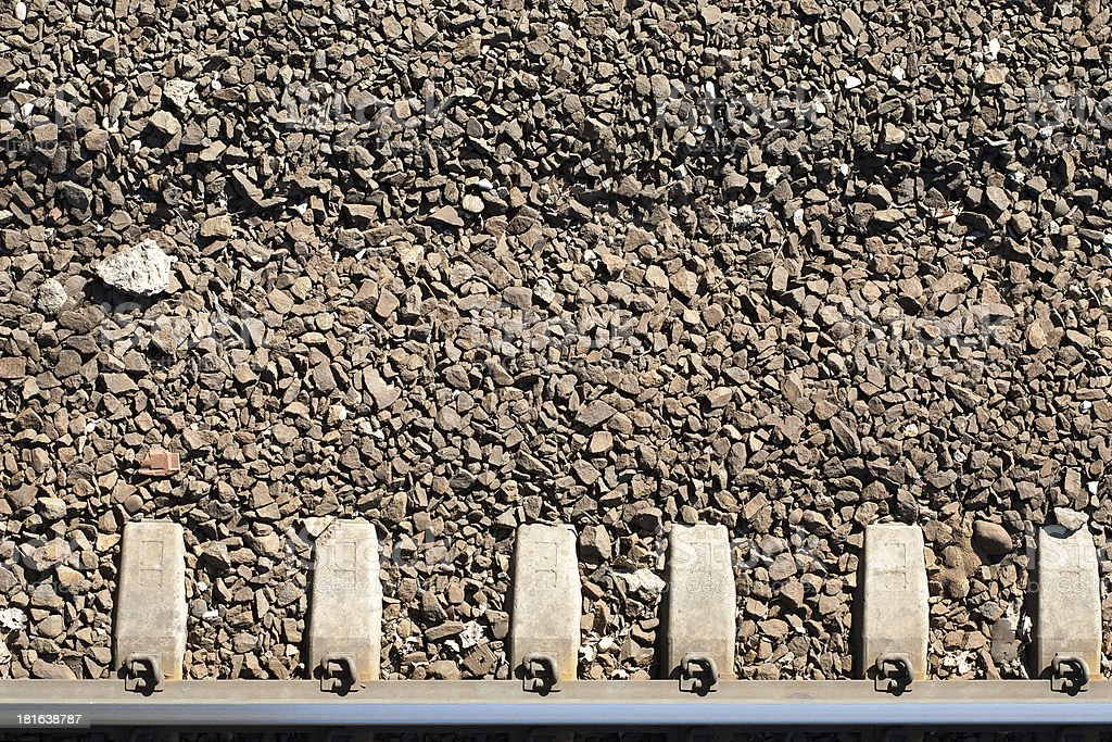 Close up of railway track royalty-free stock photo