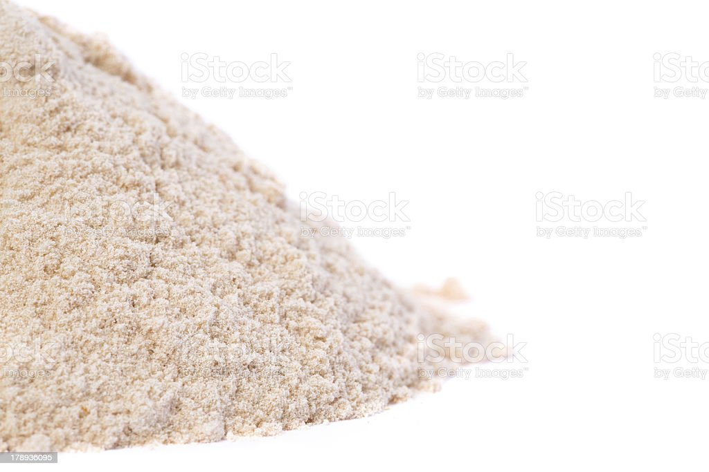 Close up of Raw Organic Lucuma Powder stock photo