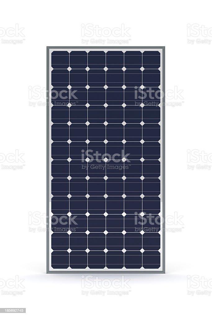 Close up of rectangular solar panel stock photo