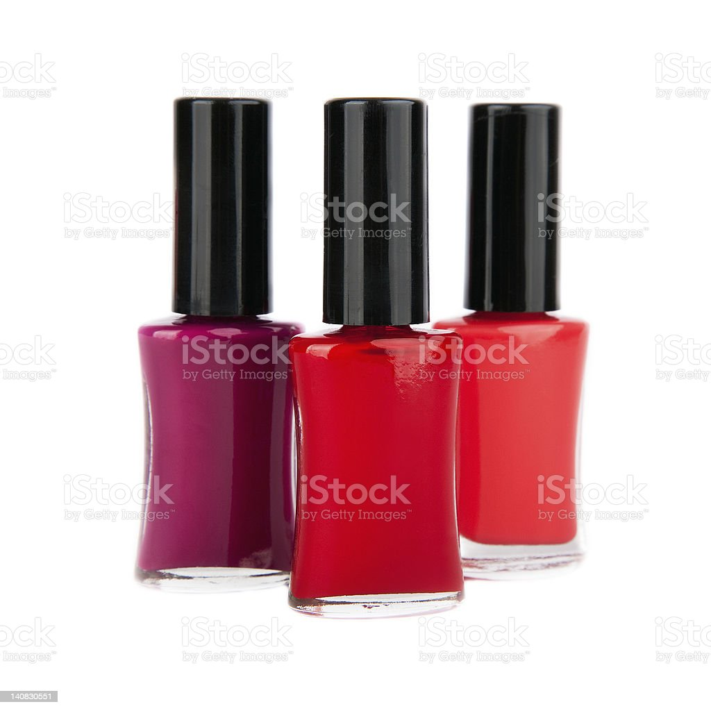 close up of red nail polish flow isolated royalty-free stock photo