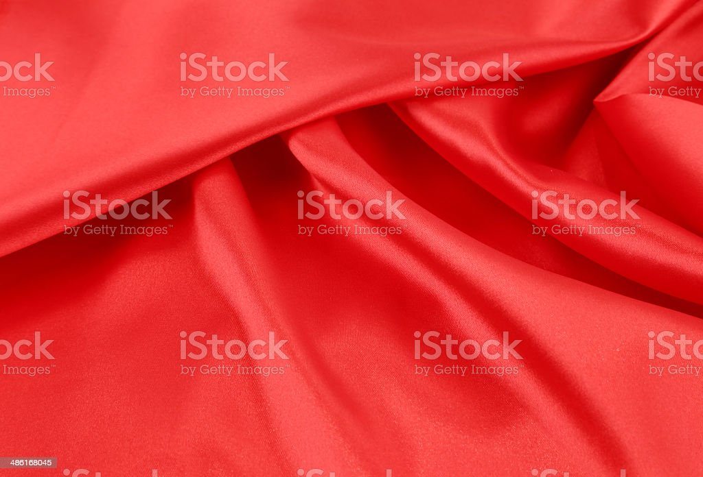 Close up of red silk fabric background. royalty-free stock photo